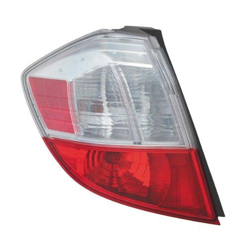 Honda Fit 09-12 Lh Left Driver Rear Brake Taillight Taillamp Base Lens & Housing