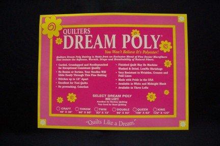 Quilter's Dream Midnight Black Poly Batting - Mid Loft - Twin ()
