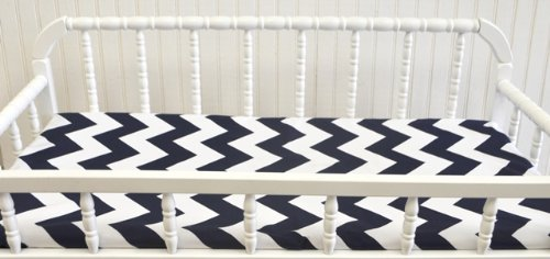 New Arrivals Zig Zag Changing Pad Cover, Navy