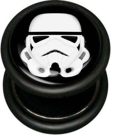 Dilatador Falso - 1,2 mm grosor de la barra - Trooper - PVD negro acero inoxidable - Vendido por unidad: Amazon.es: Joyería