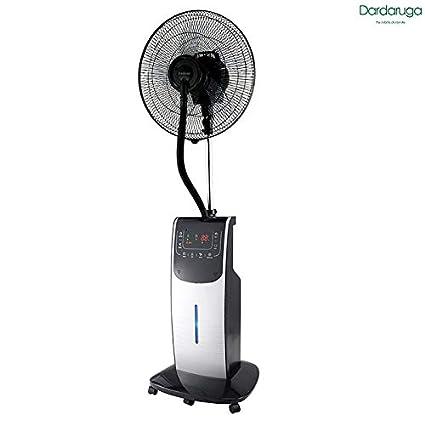 Ventilador digital Dardaruga con nebulizador de agua DMA, plateado