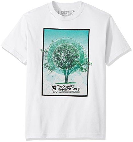 LRG Men's Tree Grid Tee, White, 4XL - Lrg Print Jersey