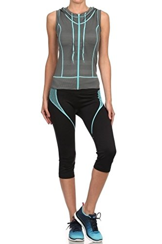 Sports Sleeveless Vest Top - ShoSho Womens Activewear Sleeveless Zip-Up Hoodie Sports Vest & Active Tops Grey Large
