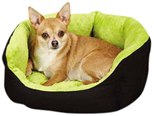 (Slumber PetA Dimple Plush Nesting Beds  -  Cozy Clamshell-Style Cotton/Nylon Beds for Dogs and Cats - Small, 18