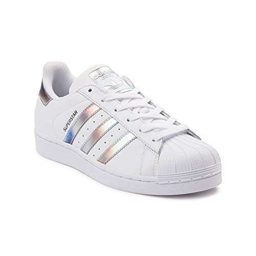 Adidas Originals Womens Superstar W Fashion Sneaker (uomo 5 / Donna 7, Bianco Metallico 6287)