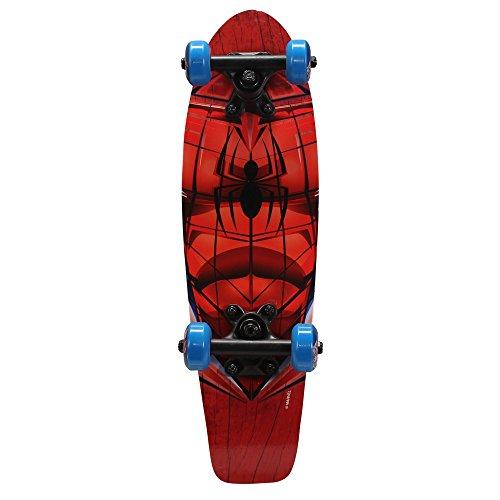 PlayWheels Ultimate Spider-Man 21 Inch Wood Cruiser Skateboard – Beginner Skateboard for Kids – Spidey Eyes