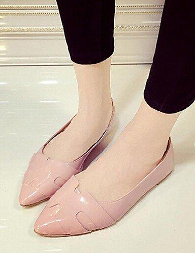 gris Zapato blanco nbsp;puntiaguda nbsp;plano Shangyi nbsp;– nbsp;rosa Gris nbsp;– nbsp;– nbsp;– Zapatos nbsp;– nbsp;lässig Sintética nbsp;bailarinas nbsp;– nbsp;piel Tacón Mujer wUw1Tq6
