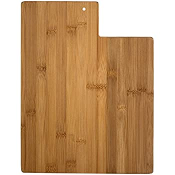 Totally Bamboo 20-7984UT Utah State Shaped Bamboo Serving & Cutting Board