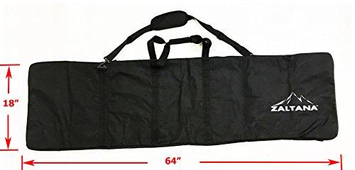 Zaltana SKB20 Padded Snowboard Carier Bag Rack Holds (18''x64''), Black by Zaltana