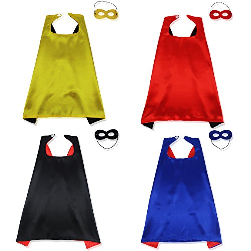 Superhero Capes And Masks Set Halloween Costume For Kids Cosplay Flash (Make Your Own Costume Superhero)