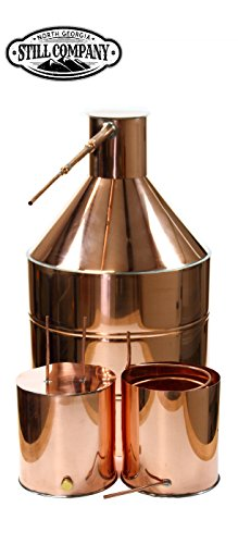 North Georgia Still Company 20 Gallon Copper Moonshine Still with 5 Gallon Worm, 5 Gallon Thumper with 1/2 OD Copper Tubing & Ball Valve Drain Port by North Georgia Still Company price tips cheap