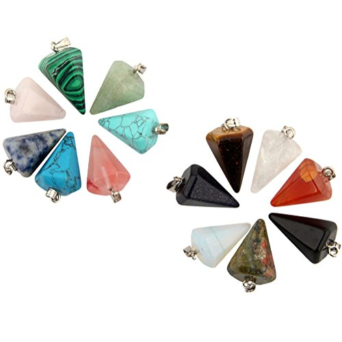 Hexagonal Healing Gemstone Pendants Necklace
