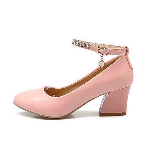 Damen Haken-und-Loop Spitz Zehe Nubukleder Rein Pumps Schuhe, Grau, 43 AllhqFashion