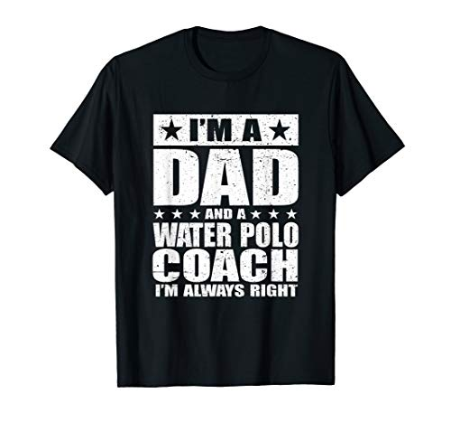 Dad Water Polo Coach T-Shirt Coaches Fathers Day Shirts Gift
