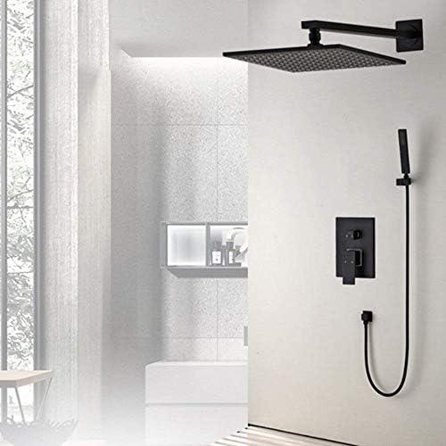埋め込み壁シャワー蛇口シャワーセットホットとコールド銅蛇口ノズル混合バルブ26センチトップスプレー浴室用品