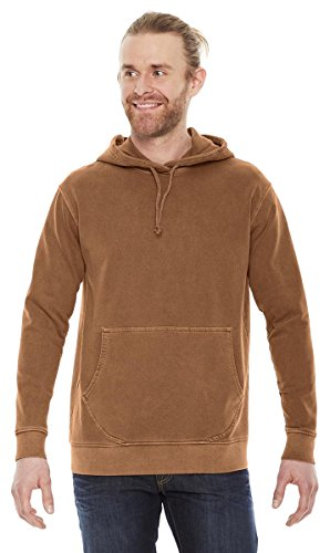Authentic Pigment Adult French Terry Hoodie, YAM, Large