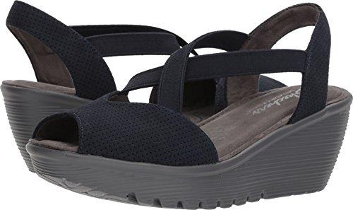 fd941bd5d5b8 Skechers Women s Parallel-Piazza-Peep Toe Gored Slingback Wedge Sandal