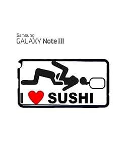 I Love Sushi Joke Cell Phone Case Samsung Note 3 White