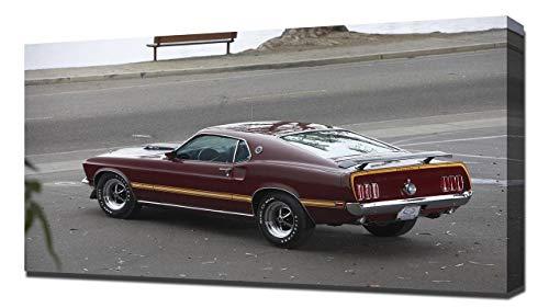 (Lilarama USA 1969 Ford Mustang 428 Super Cobra Jet V2 - Canvas Art Print - Wall Art - Canvas Wrap)
