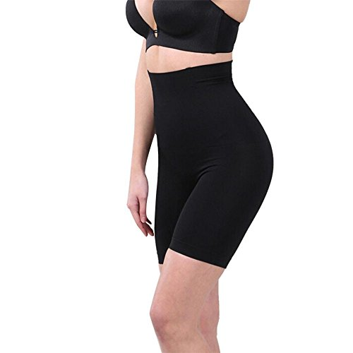 letter,Ropa interior Lady alta Cintura Trainer Tummy Control Thong Seamless Shapewear Negro