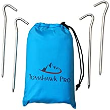 Outdoor Pocket Blanket: Compact Lightweight & Washable Water Repellent Gear, Easy Folding & Packable for Beach, Camping, Picnic, Travel, Hiking & More! Strong With Corner Pockets & FREE STAKES!!