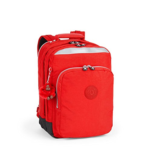 Kipling COLLEGE UP Schulrucksack, 32 Liter, True Black Red