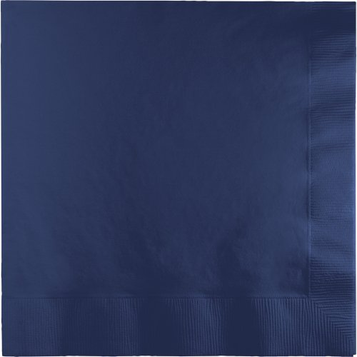 250-Count Touch of Color 3-Ply Paper Dinner Napkins, Navy Blue