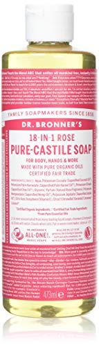 Dr. Bronner's Organic Pure Castile Liquid Soap, Rose, 16 oz