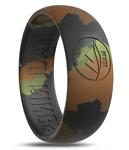 MAUI RINGS Silicone Wedding Ring by CAMO Ring Engagement Rings for Men Wedding Band Mens Ring Rubber Bands Mens Rings Surf Fitness Exercise Gym Crossfit Training Sport Running [ SIZE 11 ]]()