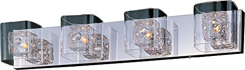 ET2 E22834-18PC DO NOT USE, USE E22834-18SVPC Bath Vanity, Polished Chrome Finish, Clear Glass, G9 Xenon Bulb, 50W Max., Dry Safety Rated, 3000K Color Temp., Standard Triac/Lutron or Leviton Dimmable, Acrylic Shade Material, 1512 Rated Lumens