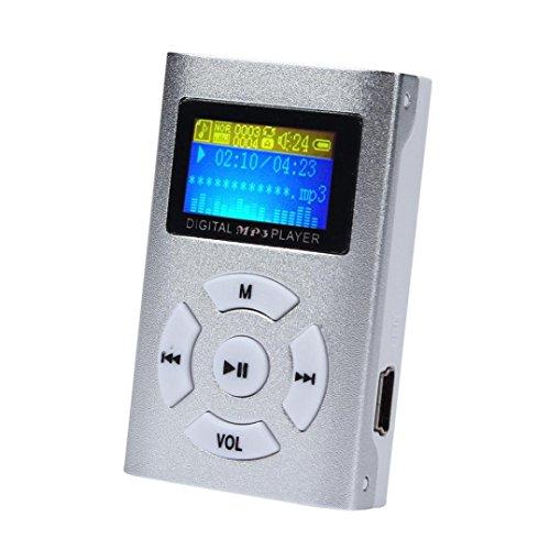 Start Mini Metal Protable USB Mini LCD Screen MP3 Player Support 32GB Micro SD TF Card-Silver