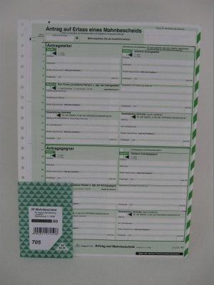Mahnbescheid A4 Sd Rnk 705 Sat 2tlg Für Amtsgericht Sachsen Amazon