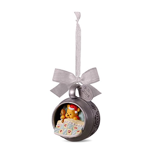 Hallmark Keepsake Christmas Ornament 2018 Year Dated, Disney Winnie The Pooh Baby's First Christmas, Metal