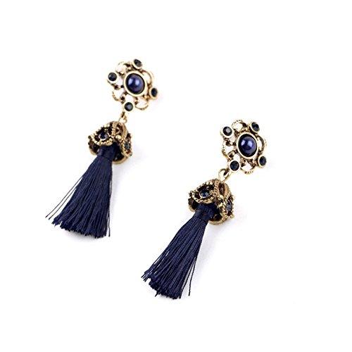 Money coming shop KISS ME Retro Fashion Tide Royal Style Atmosphere Antique Rope Tassel Dangle Earrings - Royal Wrapped Amethyst Earrings