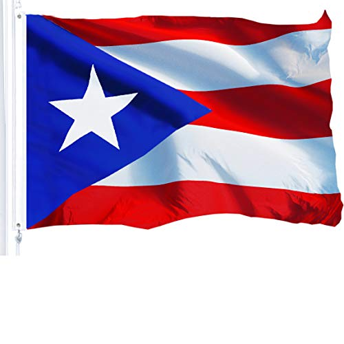 G128 - Puerto Rico (Puerto Rican) Flag | 3x5 feet | Printed 150D - Indoor/Outdoor, Vibrant Colors, Brass Grommets, Quality Polyester, Much Thicker More Durable Than 100D 75D Polyester