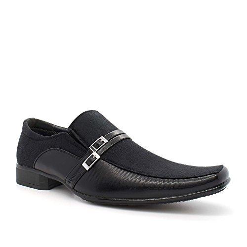 Londres calzado cristiana, Hombres de Slip On Smart/formal zapatos negro