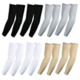 The Elixir Sports Elixir Arm Sleeves 8 pairs Bundle pack for hiking cycling golf and outdoor activities, 2 pairs each white, black, gray and beige