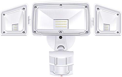 3 Head LED Security Lights Motion Outdoor Motion Sensor Light Outdoor 40W 3500 Lumens 5000k Waterproof IP65 ETL Motion Sensor Flood Light Exterior Security Light led