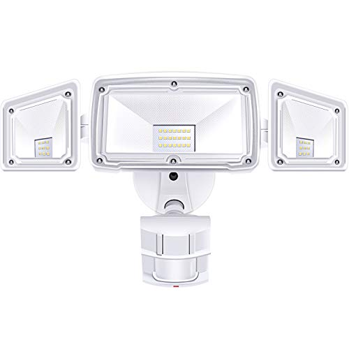 (3 Head LED Security Lights Motion Outdoor Motion Sensor Light Outdoor 39W 3500 Lumens 6000k Waterproof IP65 ETL Motion Sensor Flood Light Exterior Security Light led)