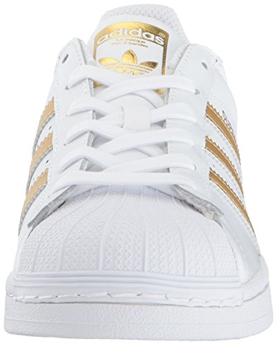 Boys' Metallic Superstar Blue Trainers Originals adidas Gold White SCqvW