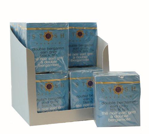 Stash Tea Double Bergamot Earl Grey Black Tea, 10 Count Tea Bags in Foil (Pack of 12)