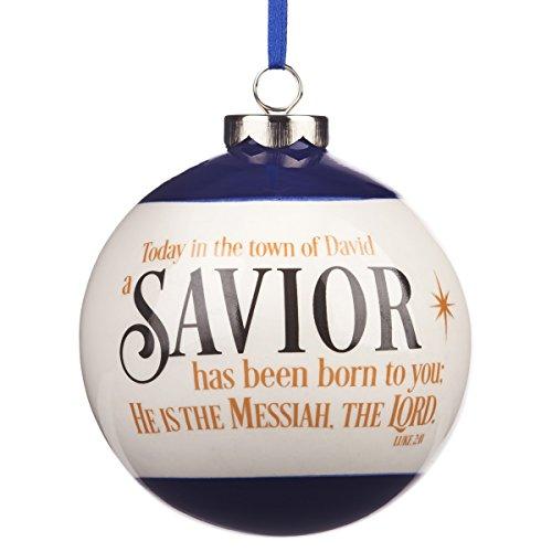 Savior Born Porcelain Ball Christmas Ornament - Luke - Ball Christmas Porcelain