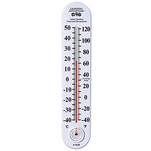 Classroom Giant Thermometer (Learning Advantage CTU7635BN Indoor/Outdoor Classroom Thermometer, Pack of 3)