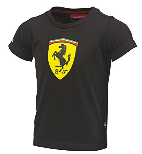 finest fabrics new & pre-owned designer great deals Ferrari Kids Black Shield Tee Shirt