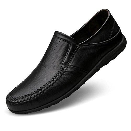 amp;M di Lavoro degli Scarpe d'Affari Pelle Uomini Scarpe Black Scarpe M Larga Scarpe Casual da Taglia PqwPdR