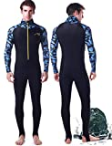 Wetsuit Full Suits for Women or Mens Modest Full Body Diving Suit & Breathable Sports Skins for Running Snorkeling Swimming 1009 (017-man, L)