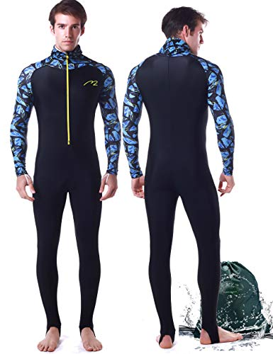 Wetsuit Full Suits for Women or Mens Modest Full Body Diving Suit & Breathable Sports Skins for Running Snorkeling Swimming 1009 (017-man, ()