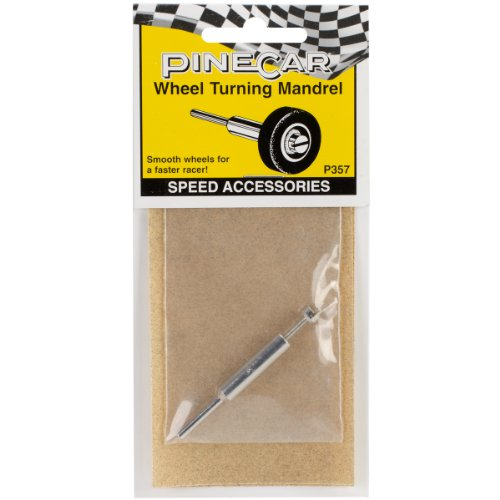 Car Derby Wheels (Woodland Scenics P357 Pine Car Derby Speed Accessories, Wheel Turning Mandrel)