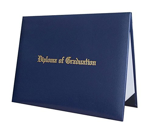 Certificate Cover Imprinted ''Diploma Of Graduation'' Smooth Diploma Cover 8.5'' x 11'' Grad Days(Navy)