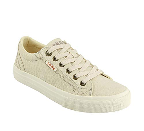 Taos Footwear Women's Plim Soul Beige Wash Canvas Sneaker 7.5 M US ()